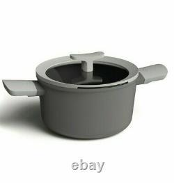 10 PIECE SET! BergHoff Gray Leo Deluxe Nonstick Cookware Set Brown Box