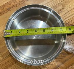 10 Piece Royal Prestige 7 Ply S. S. Titanium Silver Alloy-Copper Cookware Set USA