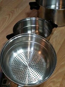 13 Piece SALADMASTER 18-8 Tri-Clad Stainless Steel Cookware Set Nice