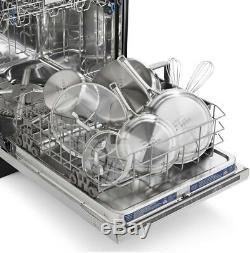 14-Piece Cookware Set Impact-Bonded Aluminum Base, Long Handles, Stainless Steel