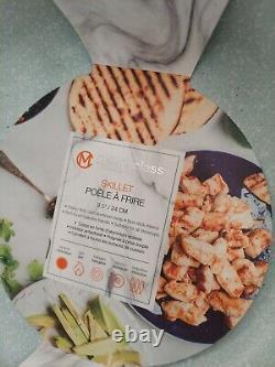 16 Piece Masterclass Premium Cookware/Bakeware Speckled Blue Set