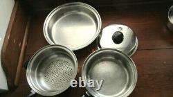 16+ Piece Set of Saladmaster 18-8 Tri-Clad Stainless Steel Cookware Nice