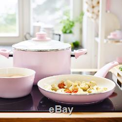 16 pieces Greenlife Soft Grip Ceramic Non-Stick Cookware Set