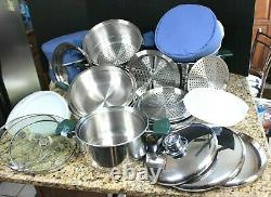 25 Piece Walkaway AirCore Thermodynamic Cookware Set Air Core Great Condition