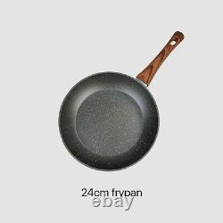5 Piece Cookware Set Frypan Casserole Saucepan Pot Non-stick Fry Pan Cooking AU