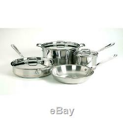 ALL CLAD 7 Piece Copper Core Cookware Set New In Box MSRP $1400 Top of the Line