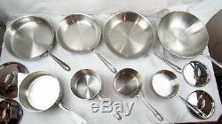 All-Clad 14-Piece Cookware Set Brushed Stainless