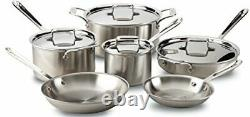 All-Clad Brushed D5 Stainless Cookware 10 Piece Set