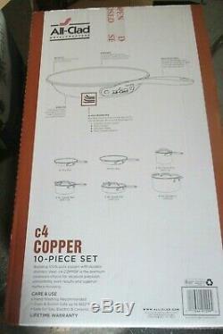 All-Clad C40010 C4 10 Piece Cookware Set, Copper