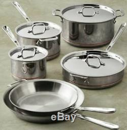 All Clad Copper Core 10 Piece Cookware Set 5 Ply 10 & 12 Frying Pans