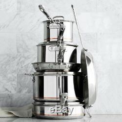 All-Clad Copper Core 10-Piece Cookware Set Pan Fry Set Size 8 & 10 stockpot