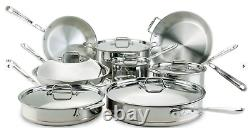 All-Clad Copper Core 5-Ply Bonded 14 Piece Cookware Set Induction, Gas