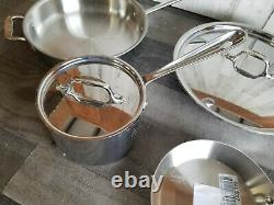 All Clad D3 18/10 Stainless Steel 6 Pc Piece Tri-Ply Cookware Set FREE SHIPPING