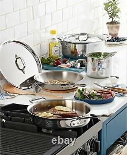 All Clad D3 18/10 Stainless Steel 7 Pc Piece Tri-Ply Cookware Set NEW