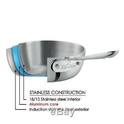 All-Clad D3 Compact Stainless Steel 10-Piece Cookware Set. NEW SEALED BOX