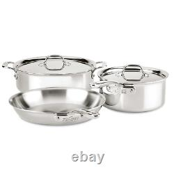 All-Clad D3 Compact Stainless Steel 5-Piece Cookware Set, 3-Ply Bonded