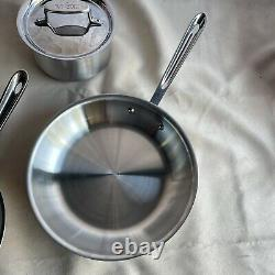 All-Clad D5 6-piece Cookware Set Brushed 18/10 Stainless Steel 5-ply Bonded