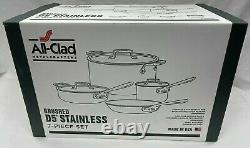 All-Clad D5 7-piece Cookware Set Brushed 18/10 Stainless Steel 5-ply Bonded