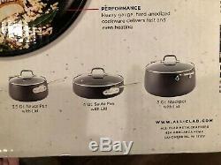 All-Clad HA1 Anodized Non Stick Cookware Set 10 Piece Set Pots Pans NIB