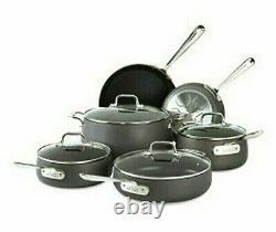 All-Clad Ha1 10 Piece Hard-Anodized Aluminum Non Stick Cookware Set
