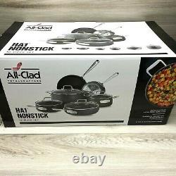 All Clad Hard Anodized HA1 Nonstick 10 Piece Cookware High Quality Pro Set NEW