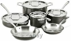 All-Clad LTD Stainless Steel Hard Anodized 10-Piece Cookware Set NEW