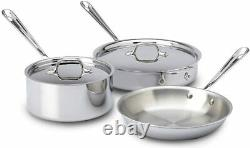 All-Clad Tri-Ply Stainless Steel 5 Piece Cookware Set