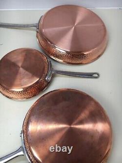 Amazon Commercial Pots & Pans Set, 12 Piece Hammered Copper Cookware Set #X17