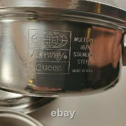 Amway Queen 3-PLY Stainless Steel 18/8 Cookware Set 9 Piece Saucepan Skillet Lid