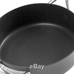 Anolon Nouvelle Copper Hard-Anodized Nonstick 11-Piece Cookware Set in Dark Gray