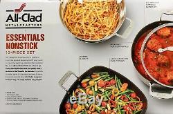 Authentic All Clad 10 Piece NonStick Pot/Pan Essential Cookware Set (Ret $500+)