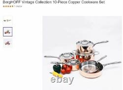 BergHOFF Vintage Polished Copper 10-Piece Cookware Set