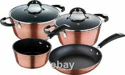 Bergner Pandora 6Piece Copper Cookware Pot & Pan Set Casserole Frying Sauce pan
