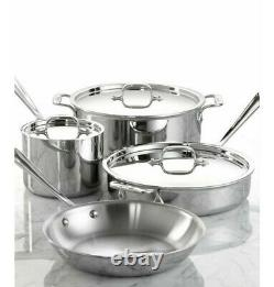 Brand New All-Clad Stainless Steel 7 Piece Cookware Set