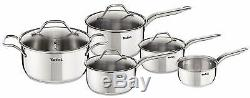 Brand New Tefal A702S54 Intuition Cookware Set, 5 Piece Stainless Steel