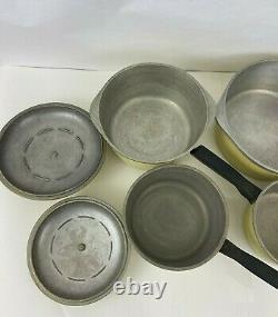 CLUB Vintage Aluminum Cookware Yellow Stock Pots Sauce Pans 8 Piece Set
