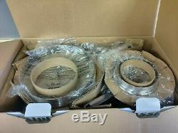 Calphalon Classic 11 Piece Ceramic Nonstick Cookware Set Grey / White New Open