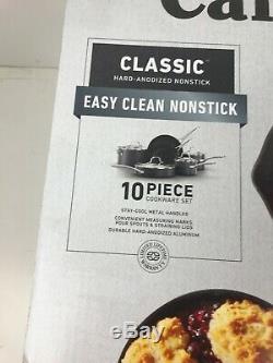 Calphalon Classic Nonstick 10 Piece Cookware Set New