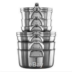 Calphalon Premier Stainless Steel Space Saving Cookware Set 10 Piece