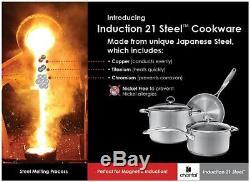 Chantal 21 Steel Induction 9 Piece Cookware Set