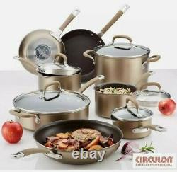 Circulon Premier Hard Anodised Induction 13 Piece Cookware Set in Bronze