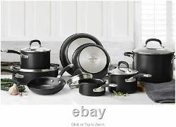Circulon Premier Hard Anodised Induction Cookware Set Black, 12 Piece