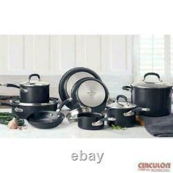 Circulon Premier Hard Anodised Induction Cookware Set Black, 13 Piece