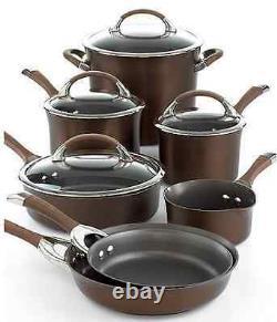 Circulon Symmetry Chocolate 11 Piece Cookware Set
