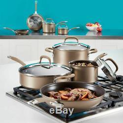 Circulon professional pan set Hard Anodised Induction 13 Piece Cookware bronze