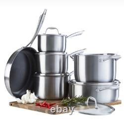 Cooks Professional 6-Piece Tri-Ply Cookware Set RRP £179.99