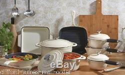 Cooks Professional Cast Iron Cookware Pan Skillet Saucepan Dish 3 5 8 Piece Set
