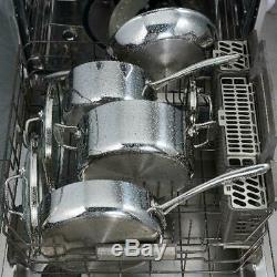 Cookware Set 10-Piece Stainless Steel Tri-Ply Clad Kitchen Frying Pan Oven Safe