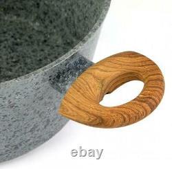Cookware Set Non Stick Marble Granite 12 Piece Pots Pans Lids Saucepan Induction