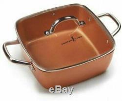 Copper Chef 12 Piece Square Casserole Cookware Set Cerami-Tech Non-Stick Coating